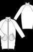 Пальто лакове О-силуету в стилі 60-х - фото 3