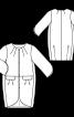 Пальто О-силуету з рукавами 3/4 - фото 3