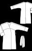 Пальто c запахом и цельнокроеными рукавами - фото 3