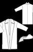 Пальто прямого крою зі знімним коміром - фото 3