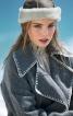 Пальто прямого крою зі знімним коміром - фото 4