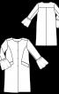 Пальто прямого крою з оборками на рукавах - фото 3