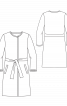 Пальто без воротника с пояском - фото 3