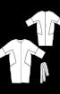 Пальто О-силуету з поясом і без коміра - фото 3