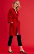 Пальто О-силуету з поясом і без коміра - фото 1