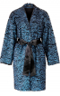 Пальто О-силуету зі штучного хутра - фото 2