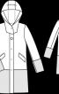 Пальто прямого крою з капюшоном - фото 3