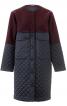 Пальто прямого крою без коміра - фото 2