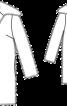 Пальто хутряне з широким коміром - фото 3