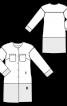 Пальто прямого крою зі спущеними проймами - фото 3