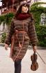 Пальто прямого силуету без коміра - фото 1