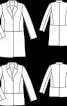 Пальто однобортне із шерстяного велюру - фото 3