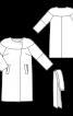 Пальто просторого крою з фігурною кокеткою - фото 3