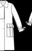 Пальто прямого силуету - фото 3