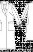 Пальто прямого крою з запахом - фото 3