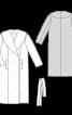 Пальто прямого силуету з широким шалевим коміром - фото 3