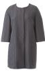 Коротке пальто з рукавами-розтрубами - фото 2