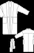 Пальто просторого крою з шалевим коміром - фото 3