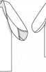 Пальто з широкими рукавами реглан - фото 3