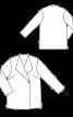 Пальто коротке без коміра - фото 3
