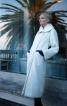 Пальто двобортне з широким коміром - фото 1