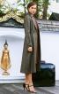 Пальто міді з вузькими лацканами - фото 1