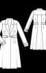 Пальто міді з вузькими лацканами - фото 3