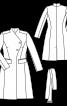 Пальто приталеного крою з широкими лацканами - фото 3