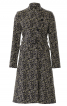 Пальто приталеного силуету зі стоячим коміром - фото 2
