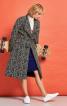 Пальто приталеного силуету зі стоячим коміром - фото 1