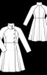 Пальто відрізне з розкльошеним низом - фото 3