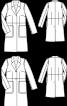 Пальто шовкове приталеного крою - фото 3
