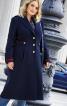 Пальто однобортне в армійському стилі - фото 1