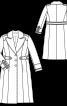 Пальто однобортне в армійському стилі - фото 3
