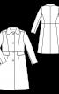 Пальто отрезное с откладным воротником - фото 3