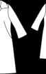 Пальто приталеного силуету з відкладним коміром - фото 3