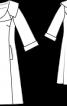 Пальто шовкове з рукавами 3/4 - фото 3