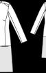 Пальто приталеного силуету із застібкою на кнопки - фото 3