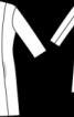 Пальто коротке з рельєфними швами - фото 3