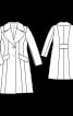 Пальто однобортне з рельєфними швами - фото 3