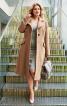Пальто однобортне з рельєфними швами - фото 1