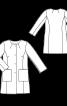 Жакардове пальто без коміра - фото 3