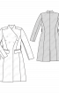 Пальто приталеного крою з коміром-стойкою - фото 3