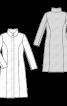 Пальто приталеного силуету з коміром-стойкою - фото 3