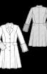 Пальто відрізне з хутряними одворотами на рукавах - фото 3