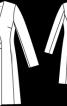 Пальто приталеного силуету з одностороннім лацканом - фото 3