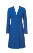 Пальто приталеного силуету з одностороннім лацканом - фото 2