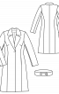 Пальто приталеного крою з поясом на ґудзиках - фото 3
