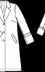 Пальто однобортне з габардину - фото 3