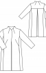 Пальто жаккардовое без застежки - фото 3